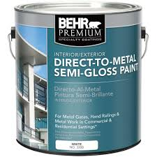 behr premium 1 gal white semi gloss direct to metal interior white semi gloss direct to metal interior exterior paint