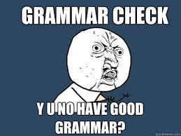 Grammar Correction Meme - grammar check y u no have good grammar y u no quickmeme
