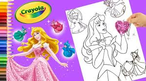 colouring book for kids princess aurora coloring crayola art for