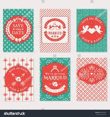 Wedding Invitation Card Sample In Set Wedding Invitation Cards Cute Card Stock Vector 389938675