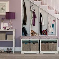cabinets purple drum table lamp under stair storage with