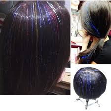 laser hair extensions 500pcs lot 12colors laser purl hair extensions colorful sparkle