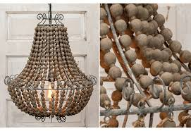 bead chandelier wood bead chandelier dining room chandeliers