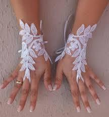 free ship white lace wedding gloves bridal gloves fingerless