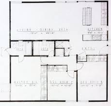 basic floor plan the basic floor plan of an midcenturymodern tract homes