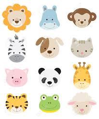8 safari animals clip art images instant download png