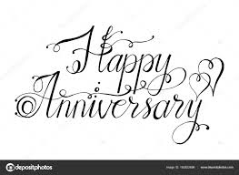 vector lettering words happy anniversary by