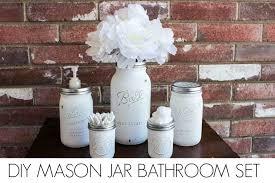 Mason Jar Bathroom Decor Diy Mason Jar Bathroom Set Consumerqueen Com Oklahoma U0027s Coupon Queen
