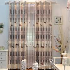 grey color living room long window curtains with lines