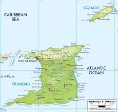 where is and tobago located on the world map location map of and tobago showing major towns roads and