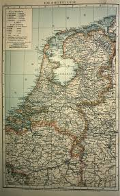 Holland Map Map Of The Netherlands 1893