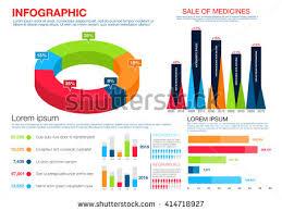 cancer graph infographics graphs net healthcare medicine infographics pie chart bar stock vector