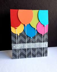 balloons i m in chevron stencil handmade birthday cards