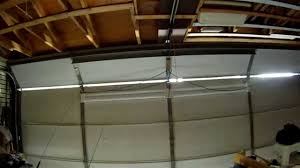 Installing An Overhead Garage Door I This Installing 4 Led Light Fixtures On My Overhead