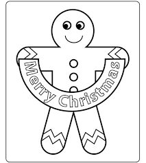 gingerbreadman coloring page christmas coloring pages