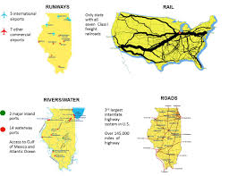 Illinois Interstate Map by Why Illinois World Class Infrastructure
