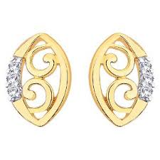 d damas gold earrings d damas gold diamond earrings dde02335 gold earrings