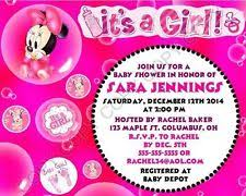 minnie mouse invitations baby shower minnie mouse invitations ebay