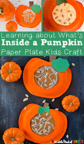 learning about what u0027s inside a pumpkin paper plate kids craft