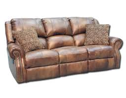 faux leather reclining sofa reclining sofa nailhead trim www gradschoolfairs com