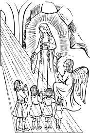 lady lourdes coloring lady rosary catholic