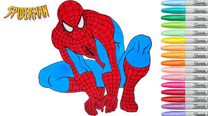 spiderman coloring book marvel superhero colouring pages episode