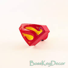 superman logo pull knob superhero home living furniture decor