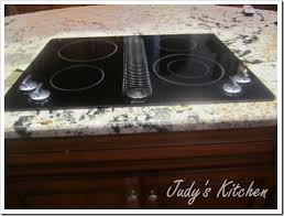 Electric Cooktop Downdraft Judy U0027s Kitchen Something New Cooking With Gas