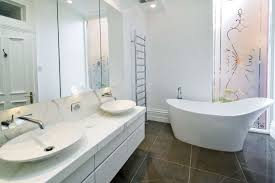 beautiful white bathroom ideas in interior design for home with