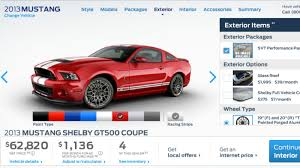 2013 shelby gt500 mustang 2013 shelby gt500 pricing starts at 54 995