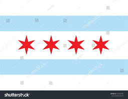 Stars On Chicago Flag Chicago Vector Flag Chicago City Flag Stock Vector 242993707