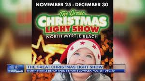 north myrtle beach christmas lights around town the great christmas light show wbtw
