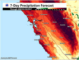 California Weather Map More Than A Foot Of Rain Could Fall In Parts Of California Over