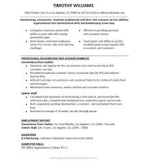 Sample Resume Objectives Fast Food Restaurants by Resume Work Experience Fast Food Virtren Com