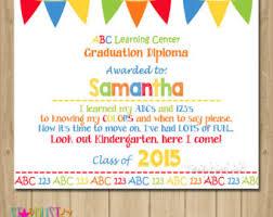 preschool graduation diploma graduation certifica etsy