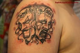 smile now cry later clown tattoo on shoulder fresh 2017 tattoos