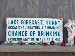 lake house decor best gifts for dad rustic home signs