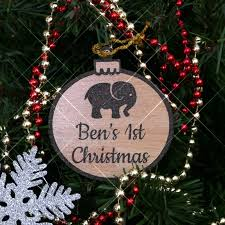 1st Christmas Decorations Personalised Christmas Decorations
