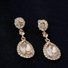 Chandelier Earrings Bridal Yellow Chandelier Earrings Gold Crystal Chandelier Earrings Bridal