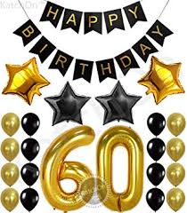 60 things for 60th birthday 60th birthday party decorations kit happy birthday