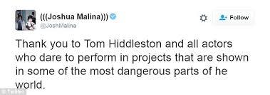 golden globes 2017 tom hiddleston criticised for speech