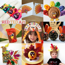 Thanksgiving Arts And Crafts For Kids 20 Turkey Crafts For Thanksgiving Red Ted Art U0027s Blog