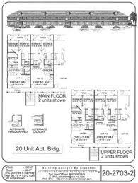 Multi Unit Floor Plans Multi Family Home And Building Plans Apartments Pinterest