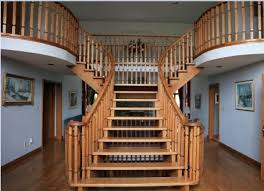 Stairway Banisters Railings Stairs Iron Balusters Stair Wood Rod Indoor Stair Railing