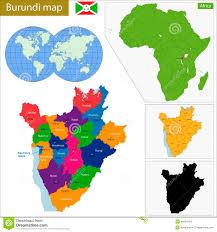 Burundi Map De Kaart Van Burundi Vector Illustratie Afbeelding 49294144