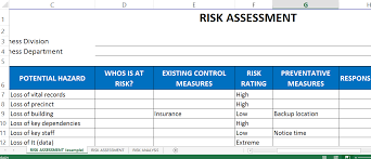 risk assessment template excel templates at allbusinesstemplates com