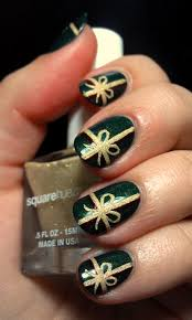 christmas holiday red tree and bow nail art design youtube