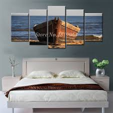 drop shipping home decor drop shipping canvas prints painting ship on the sea 5 pieces home
