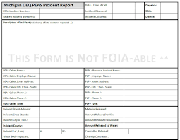 soil report sample deq pollution emergency alerting system peas information image of the michigan peas incident report sample form