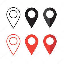 Map Pin Map Pin Flat Design Style Modern Icon Pointer Minimal Vector